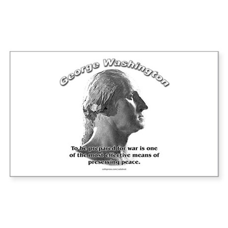 George Washington 03 Rectangle Sticker