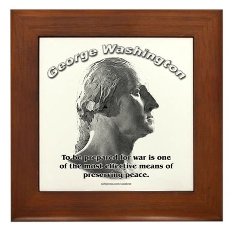 George Washington 03 Framed Tile