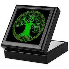 Green Keltic Wisdom Tree Keepsake Box