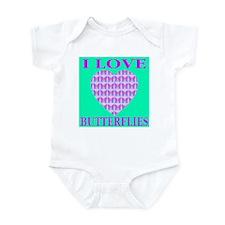 I Love Butterflies Heart Exot Infant Creeper