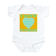 I Love Butterflies Heart Gold Infant Creeper