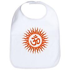 Cute Om yoga symbol Bib