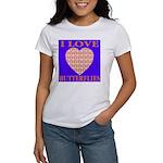 I Love Butterflies Heart Flor Women's T-Shirt