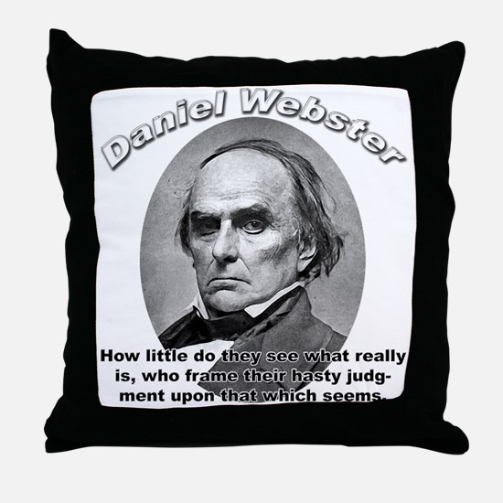 Daniel Webster 02 Throw Pillow