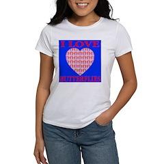 I Love Butterflies Heart Ocea Women's T-Shirt
