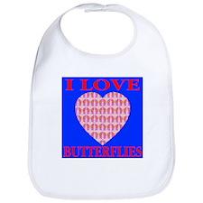 I Love Butterflies Heart Ocea Bib