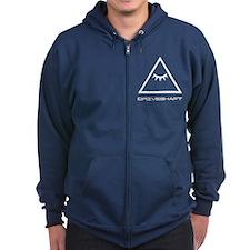 Drive Shaft Band Pyramid Logo Zip Hoodie
