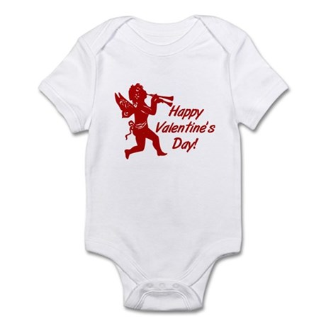 Happy Valentine Cupid Infant Bodysuit | CafePress.com
