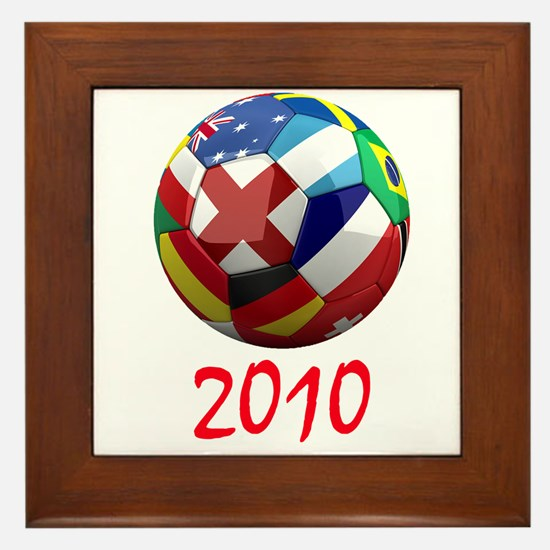 2010 Soccer Ball Framed Tile