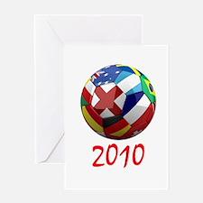 2010 Soccer Ball Greeting Card