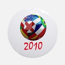 2010 Soccer Ball Ornament (Round)
