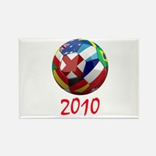 2010 Soccer Ball Rectangle Magnet