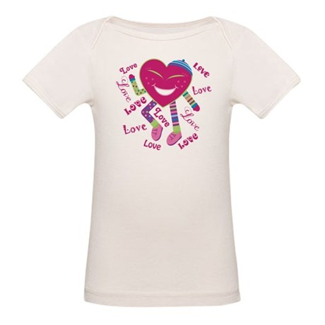 Happy Dancing Heart Organic Baby T-Shirt