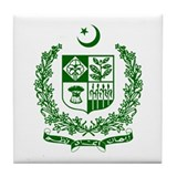 Pakistan coat of arms Tile Coasters