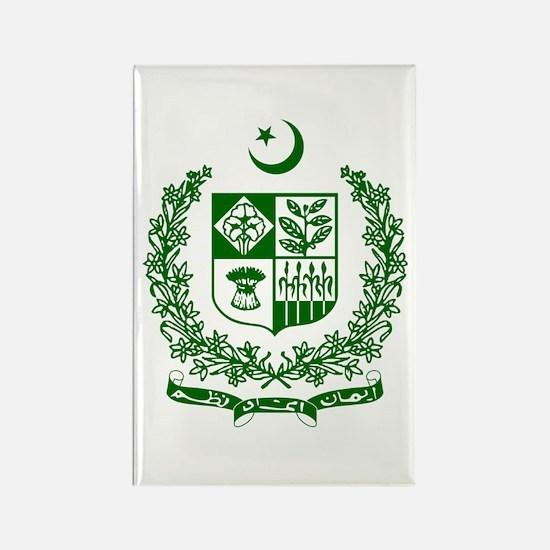 Pakistan Coat of Arms Rectangle Magnet