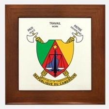 Cameroon Coat of Arms Framed Tile