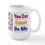 Count on Me Large Mug