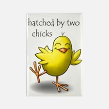 hatched by two chicks Rectangle Magnet