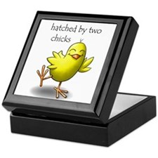 hatched by two chicks Keepsake Box