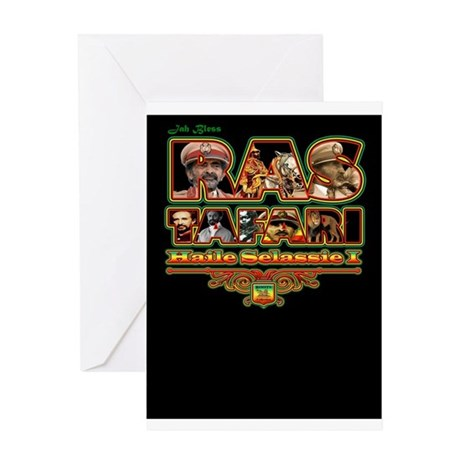 Rasatafari blk Greeting Cards