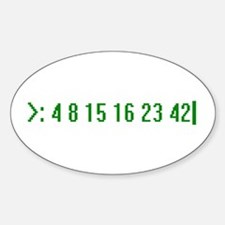 Numbers Oval Decal