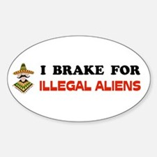 WATCH OUT FOR ALIENS Oval Sticker (10 pk)