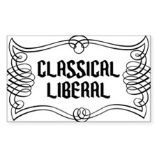 Classical Liberal Rectangle Decal