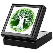 Green2 Celtic Tree Keepsake Box