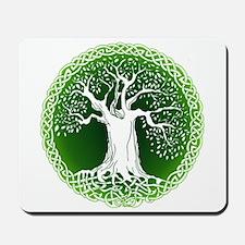 Green2 Celtic Tree Mousepad