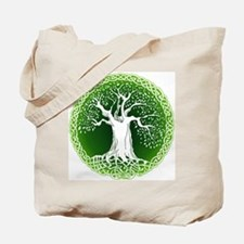 Green2 Celtic Tree Tote Bag