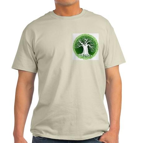 Faded Green Celtic Wisdom Tree Light T-Shirt