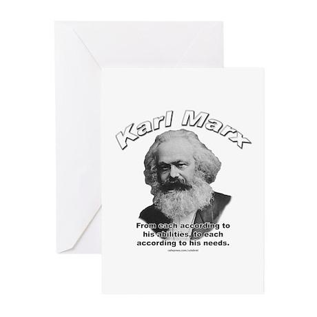 Karl Marx 02 Greeting Cards (Pk of 10)