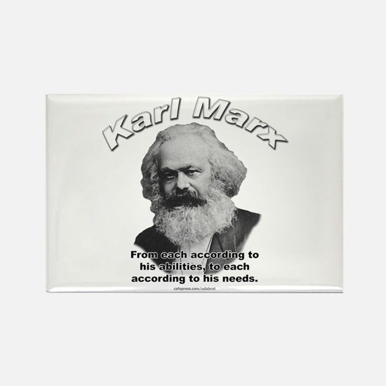 Karl Marx 02 Rectangle Magnet