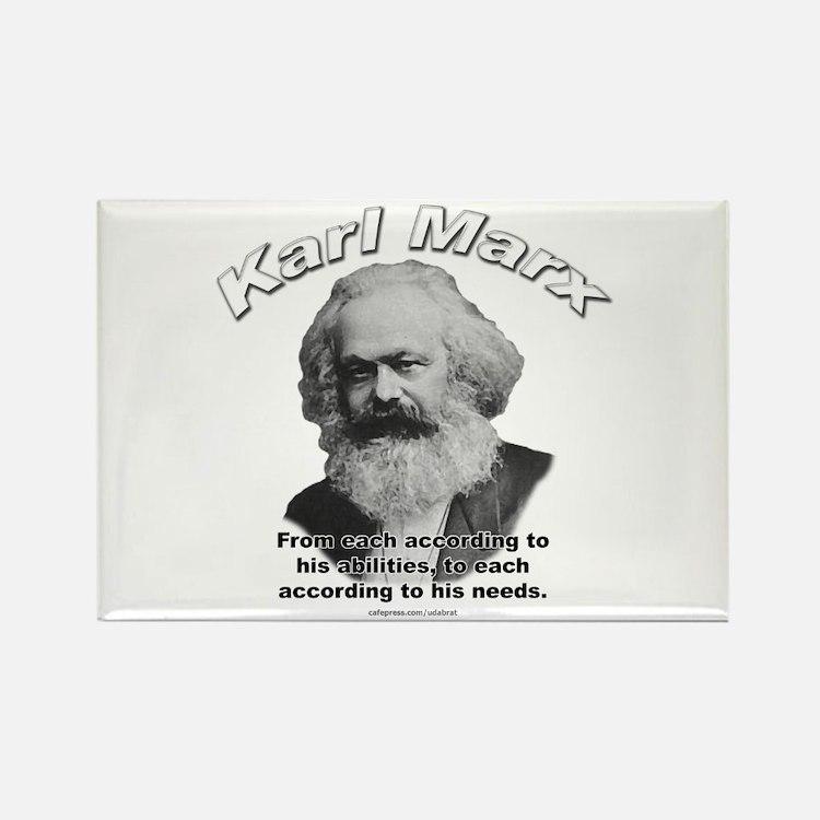 Karl Marx 02 Rectangle Magnet