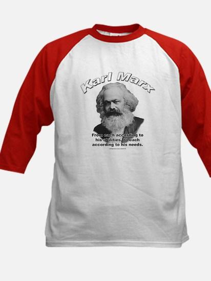 Karl Marx 02 Kids Baseball Jersey