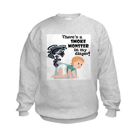 Smoky Monster in my Diaper! Kids Sweatshirt