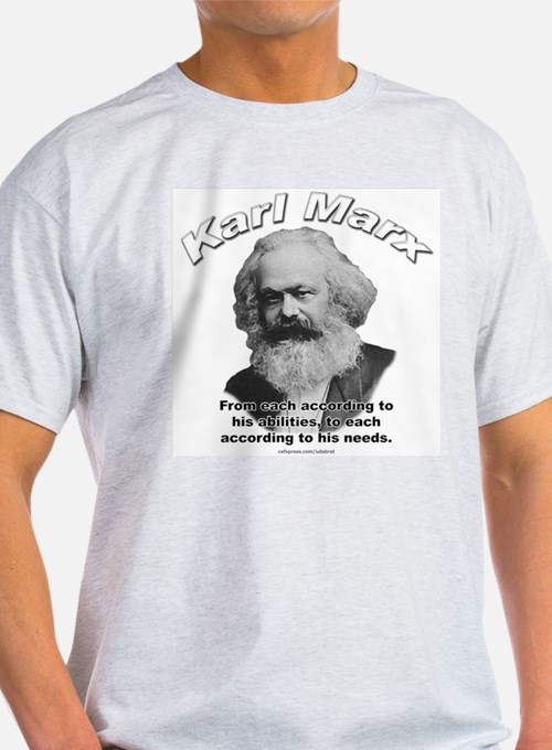 Karl Marx 02 Ash Grey T-Shirt