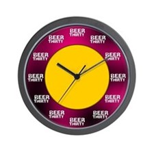 Beer-Thirty Wall Clock