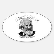 Karl Marx 01 Oval Decal