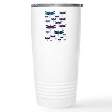 Jewelled Dragonflies Ceramic Travel Mug