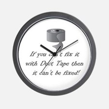 Fix it with Duct Tape Wall Clock
