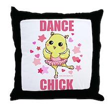 DANCE CHICK Throw Pillow