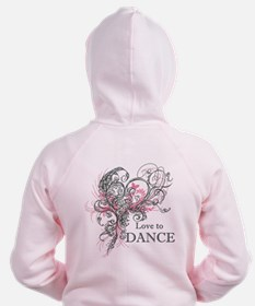 Love to Dance Zipped Hoody