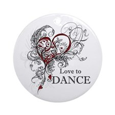 Love to Dance Ornament (Round)