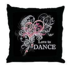 Love to Dance Throw Pillow