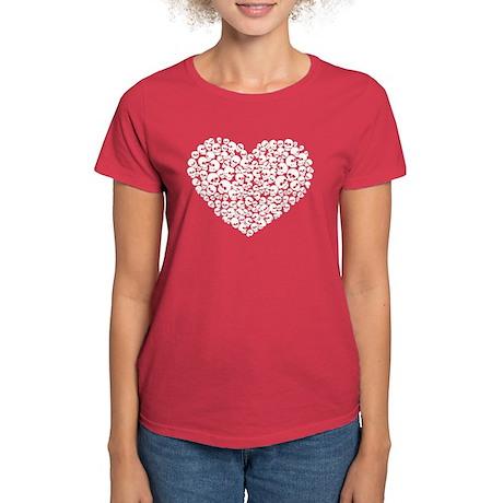 Heart of Skulls Women's Dark T-Shirt