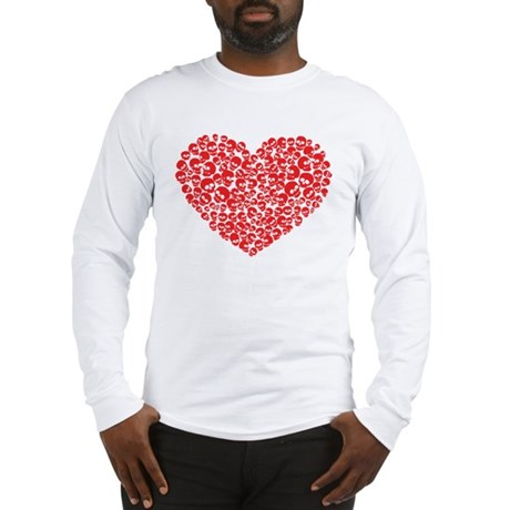 Heart of Skulls Long Sleeve T-Shirt