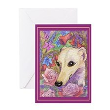 Shy flower Greeting Card