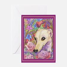 Shy flower Greeting Card