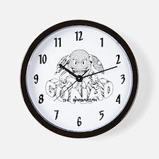 Gonad The Barbarian Wall Clock